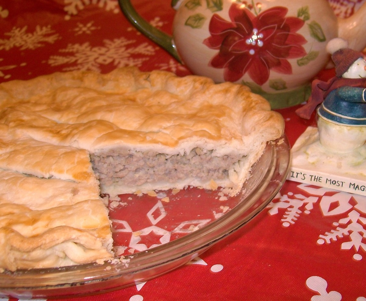 Grammy Brouillette's French Canadian Meat Pie (Also known as Tourtière) - - Filling Can Be Used as a Stuffing
