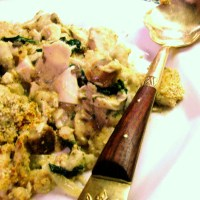 Turkey Strata (Casserole) - Uses Left-Over Turkey and Stuffing