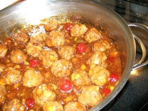 'Chinese' a.k.a. 'Sweet and Sour Meatballs' - from 'My Yellow Farmhouse.com'