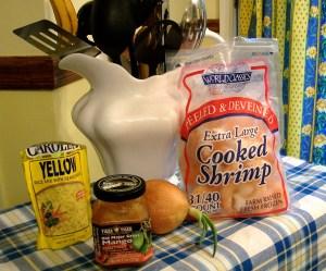 Ingredients - Saffron Rice & Shrimp