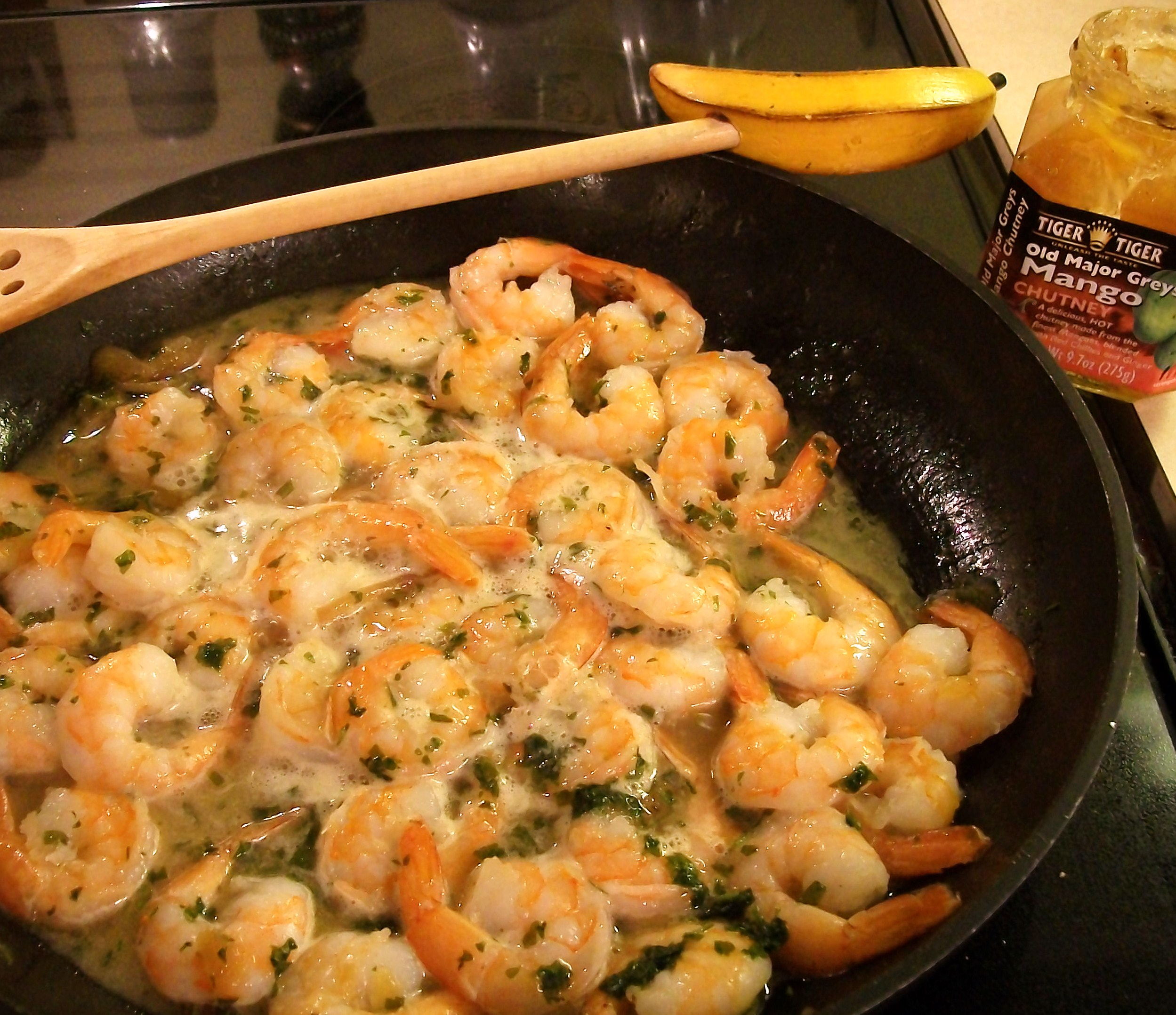 how to cook frozen cooked garlic shrimp