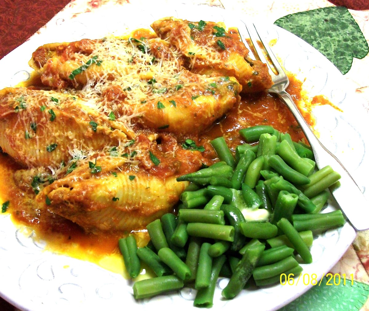 Stuffed Shells Florentine - Cook in Oven - OR - Outside on Your Grill !