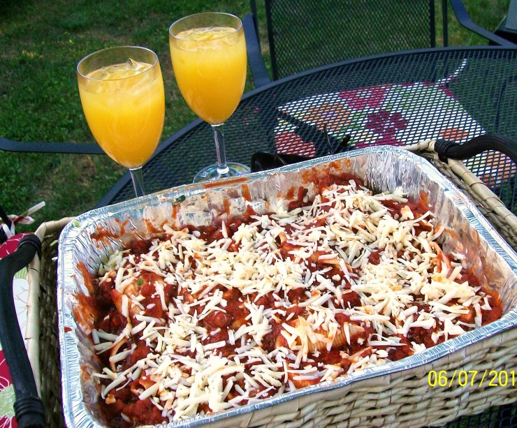 Stuffed Shells - uncooked