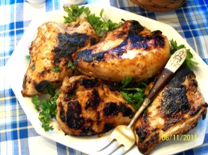 Oven 'Barbequed' Chicken - My Yellow Farmhouse.com