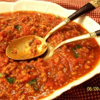 Italian Pasta Sauce with Meat and Fresh Herbs