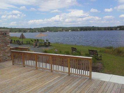 Pocono House - View from Lodge at Arrowhead Lake - myyellowfarmhouse.com