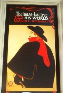 Poster Toulouse-Lautrec Exhibit