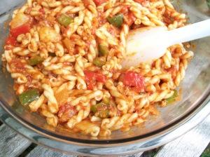 Gemelli Pasta and Sauce