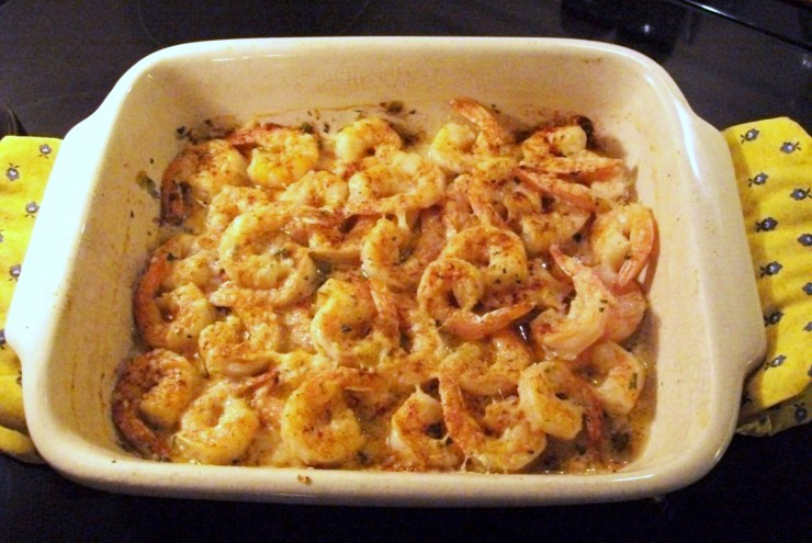 Cajun Garlic and Butter Broiled Shrimp - My Yellow Farmhouse.com