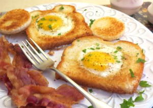 Eggs in a Frame - cooked