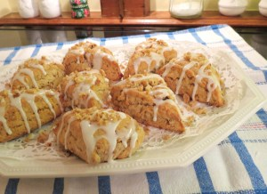 Maple Pecan Scones - finished - last photo