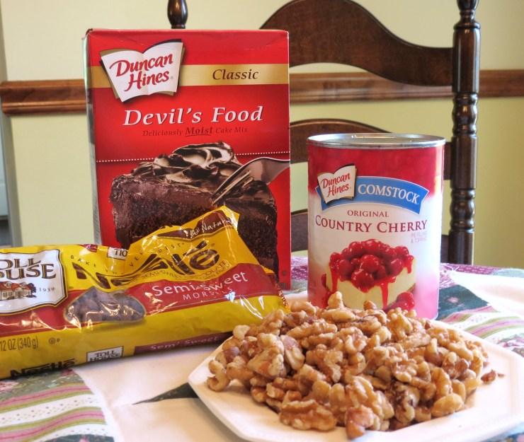 Chocolate Cherry Nut Cake - My Yellow Farmhouse.com