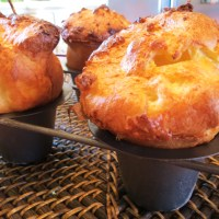 'The Popover Experiment' - Recipe No. 2.  Popovers are a bit higher & insides are slightly drier.