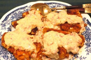Chicken with Creamy Parmesan and Pimento Sauce - My Yellow Farmhouse.com