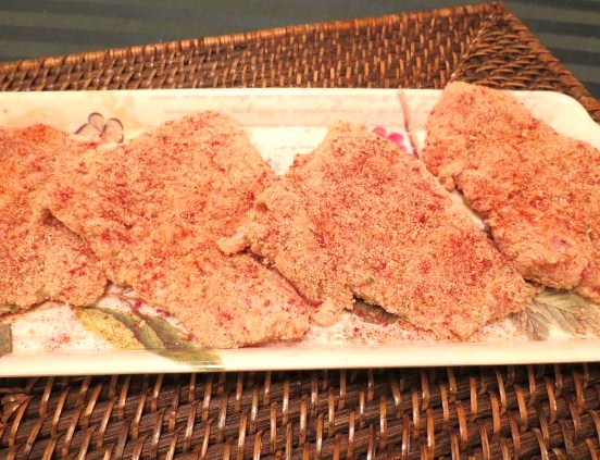 Breaded Chicken Cutlet with Parmesan-Pimento Cream Sauce