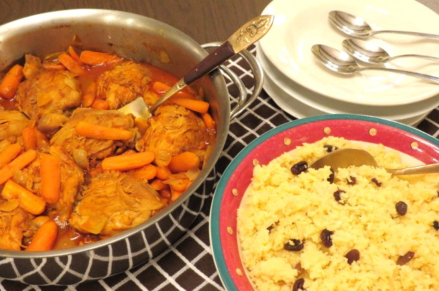 Moroccan Chicken and Couscous - myyellowfarmhouse.com