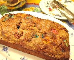 'Not Your Grandmother's' Banana Bread with M&Ms and Nuts - My Yellow Farmhouse.com