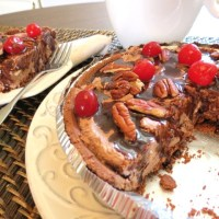 Scrumptious No-Bake Pies ... Double Chocolate Pie with Pecans ... & ... Pistachio Pie with White Chocolate Chips and Walnuts