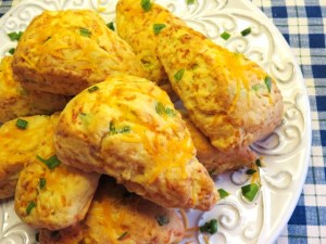 Savory Cheese and Scallion Scones - My Yellow Farmhouse.com
