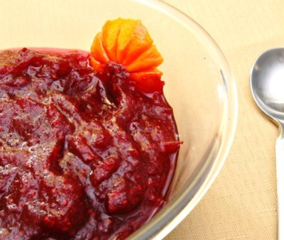 Gingered Cranberry Sauce - from Rufus' Food and Spirits Guide - post Nov 2014