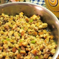 "Make-Ahead Turkey Dinner - Recipe No. 3 - ""Herb Stuffing with Baby Bella Mushrooms, Celery and Onion"""