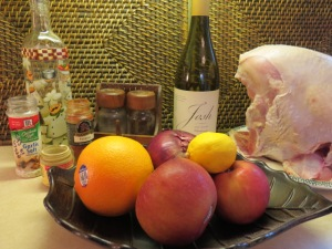 Roasted Turkey with White Wine, Apples and Oranges - My Yellow Farmhouse.com