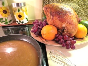 Turkey Gravey Flavored with Apples, Oranges and Red Onions - My Yellow Farmhouse.com