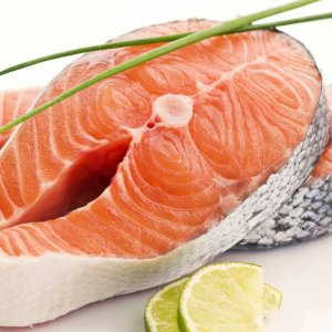 2 - organic salmon steak - courtesy of Graig Farm -