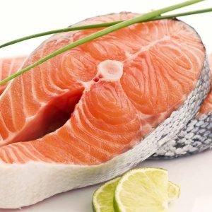 2 - organic salmon steak - courtesy of Graig Farm -