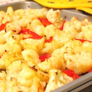 cooked -Roasted Cauliflower Gratin with Toasted Pine Nuts