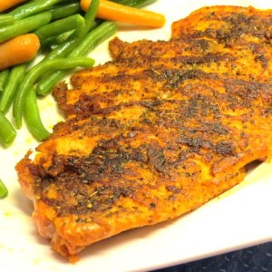 Herbed Blackened Salmon - My Yellow Farmhouse.com.