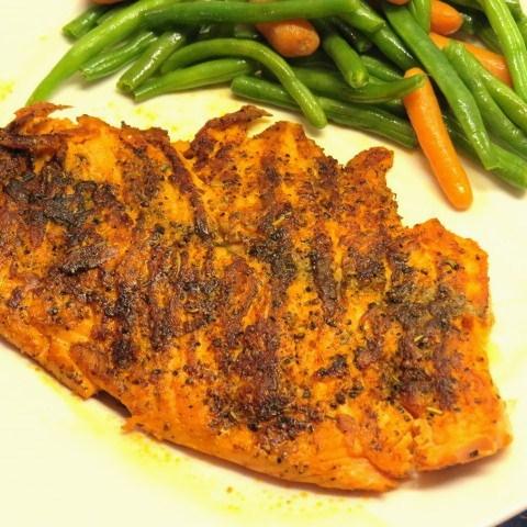 Herbed Blackened Salmon - My Yellow Farmhouse.com