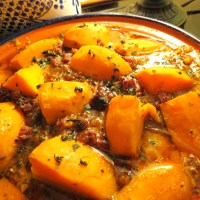 Moroccan Chicken Tagine with Sweet Potatoes   (Does NOT have to be cooked in a tagine!)