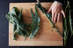 Removing ribs from kale - photo courtesy food52.com