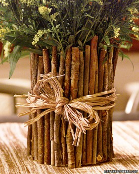 Twig Vase - courtesy of Martha Stewart