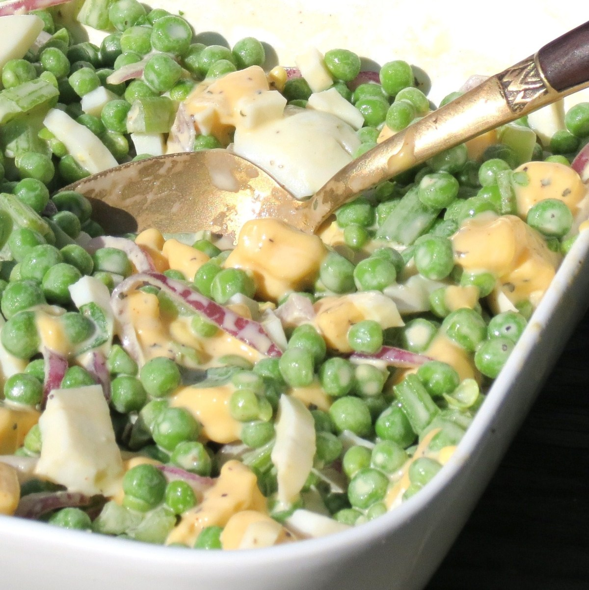 Pea Salad - A delicious and easy 'make-ahead' salad !  UPDATE - An even tastier and easier version!!