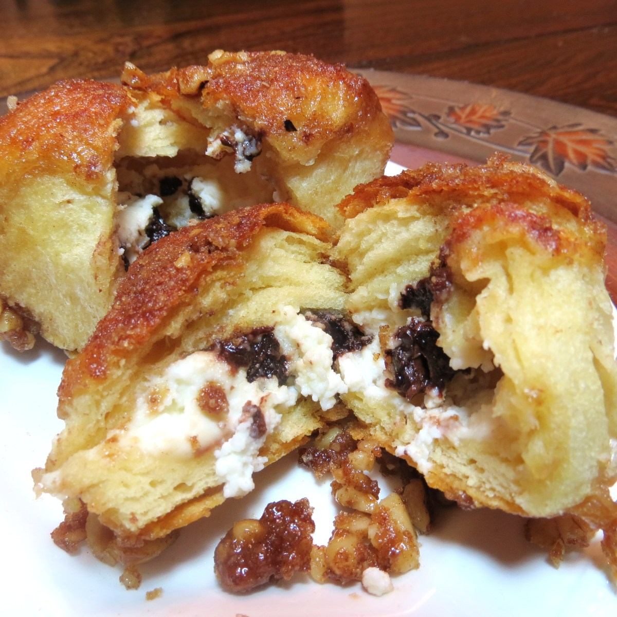 Cream Cheese and Chocolate Filled Monkey Bread  (Uses a 9 x 13 pan)