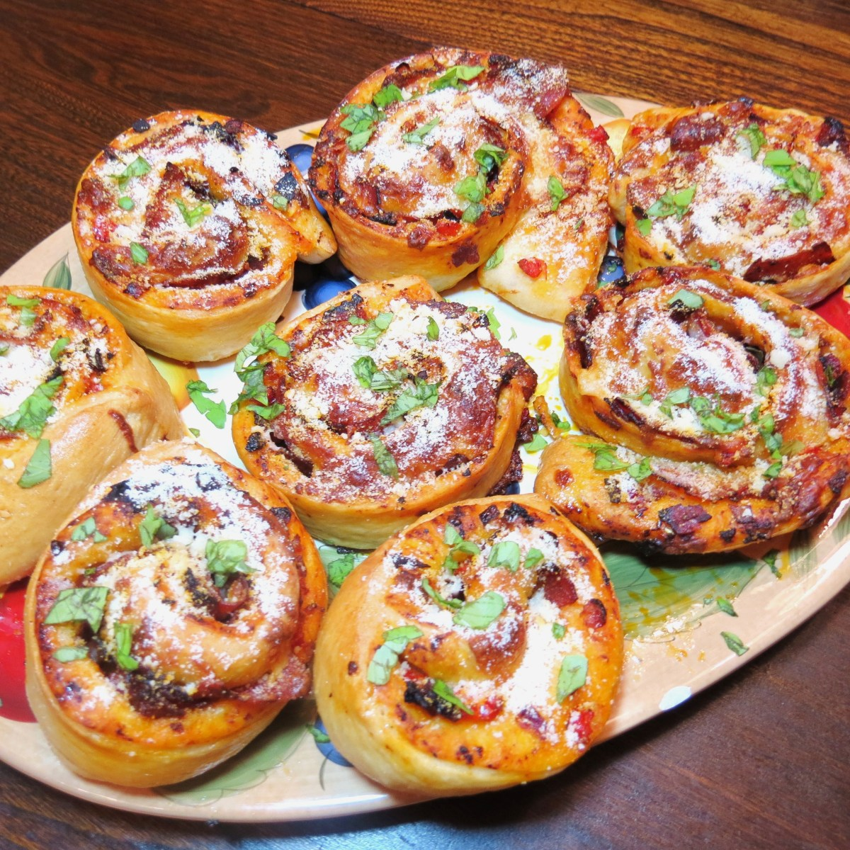 Pizza Bread Swirls – with Pepperoni, Red Peppers, Onions and ...
