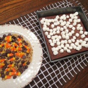 Frightfully Delicious Halloween Bars with Candy Corn myyellowfarmhouse.com