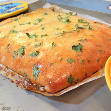 10 - Cheesy Roasted Red Pepper and Pepperon Calzone