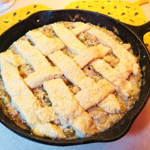 Got Leftovers?   Make a 'One Pan' Biscuit Topped Pie! - myyellowfarmhouse.com.jpg