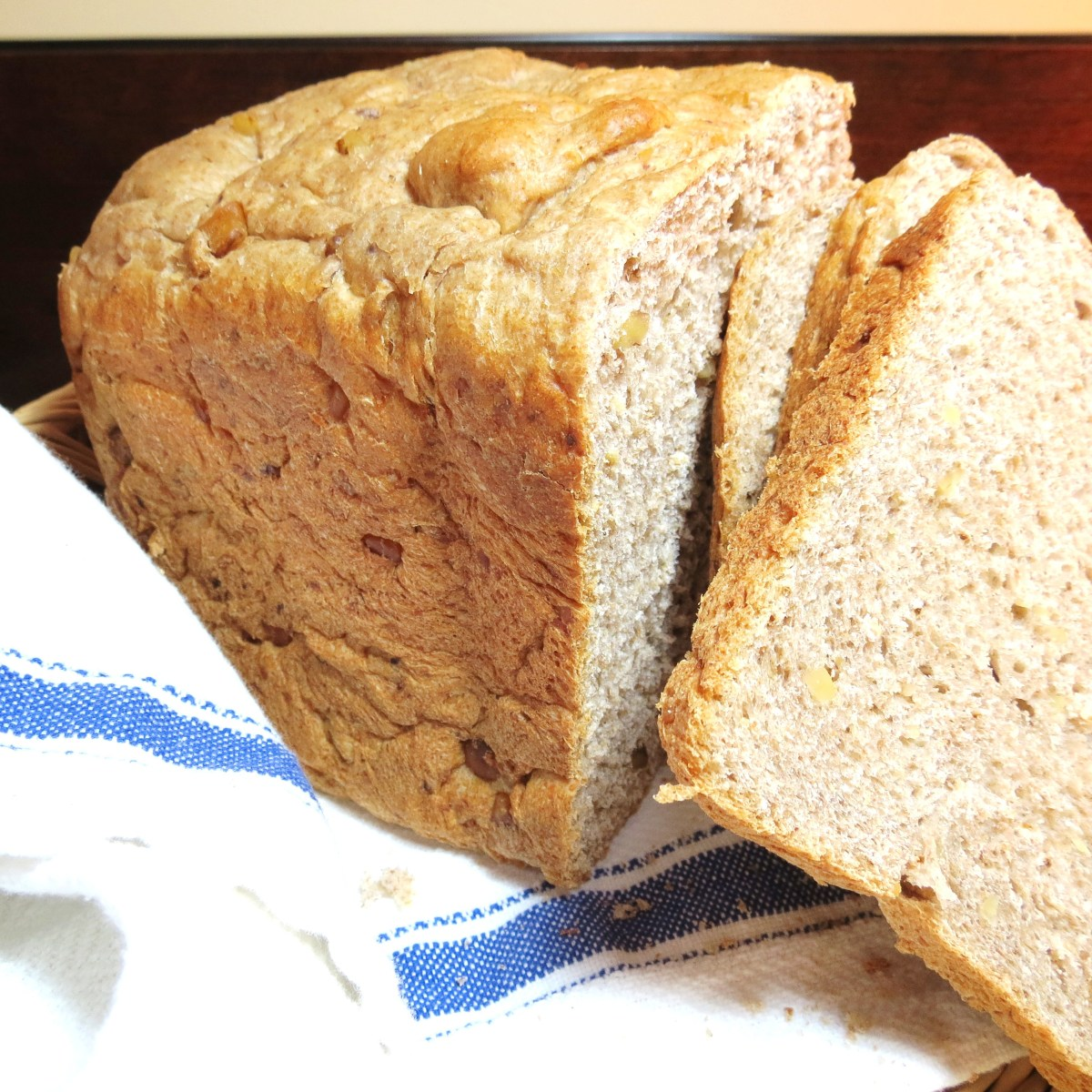 "'Request Bread' -  A Heartier Version of ""Five-Star Bread'.  Loaded with 'Good Stuff' Like Whole Wheat, Honey, Steel Cut Oats, Wheat Germ and Walnuts!"