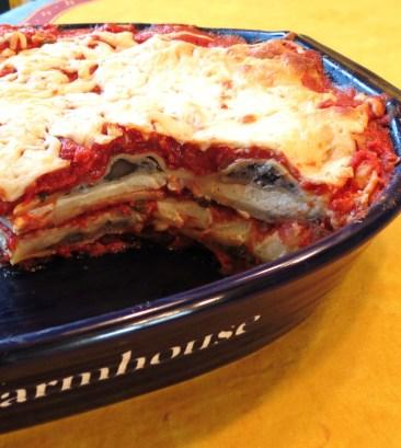 Mushroom Ravioli Lasagna