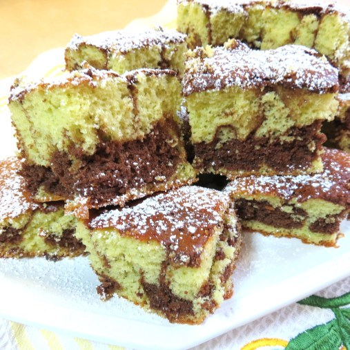 3 - Chocolate and - Pistachio and  Swirl Cake - myfarmhouse.com
