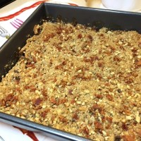 Crunchy, Nutty Apple Crisp with a Sprinkling of Bacon
